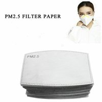 PM2.5 Filter for Mask Anti Haze Mouth Mask Replaceable Filter Pad 5 Layers Activated Carbon Filter Face Masks Insert CCA12001 300pcs