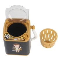 Limpiador de maquillaje Dispositivo Limpieza automática Mini lavadora Juguetes para niños Juguetes simulados Pretender Play Limpiador Lavadora Herramienta