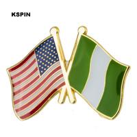 Значок флага дружбы США Нигерии, флажок XY0288-4
