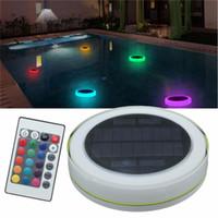 Edison2011 RGB LED 수중 빛 태양 전원 연못 빛 야외 수영장 부동 파티 장식 조명 원격 제어