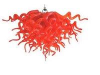 100% Mouth Сгорел боросиликатного Современная люстра Свет Главная Свадебные Decoraton Чихули Рука выдувное стекло Потолок