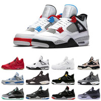 2019 Hot 4 4s Weißzement Toro Bravo grün Pure Money Herren Basketballschuhe Bred Royalty Game Royal Sports Sneakers mit Schuhen Größe US 7-12