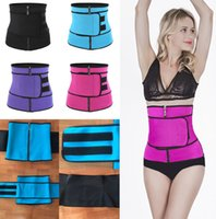 Hot Shaper che dimagrisce Cintura avvolgente Firm Waist Trainer Cincher Corsetto Fitness Sweat Cintura Shapewear Cerniere Hook Loop Plus Size