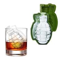 2 stücke eiswürfel Kreative Bar Zubehör Grüne 3D Granate Große Lebensmittelqualität Silikon Eisform Whisky Eismaschine Küche werkzeug
