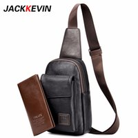 Men' s Fashion Retro Pu Foot Leisure Travel Bag Shoulder...