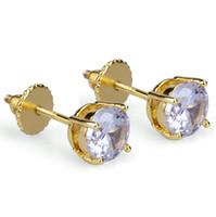 Designer orecchini di Hip Hop dei monili delle donne Mens Orecchini CZ rotonda Orecchini di diamanti in oro ghiacciato fuori Accessori Moda Sposa