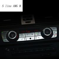 자동차 스타일링 인테리어 버튼 스티커 BMW E90 3 시리즈 자동차 액세서리 용 멀티미디어 에어컨 CD 패널 트림 커버