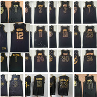 Cheap Wholesale Stitched Black Gold Jersey Top Quality Mens ...