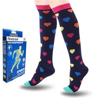 Calcetines deportivos FindCool Mujeres Yoga con compresión graguada Soporte de pierna de seco rápido para hombres en forma para hombres Transporte de ejercicios