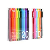 10 / 20Pcs KACO PURE Pen Gel Coreia Kawaii retrátil Gel Canetas com 0,5 milímetros Escrita Ponto alta qualidade ABS Matte Doce Caneta Esferográfica