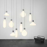 E27 Modern hanging lights 220V LED gray pendant lamps for ki...