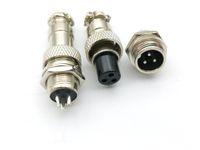 20set 3-Pin XLR 12 milímetros adaptador de áudio cabo conector Montagem em Chassi