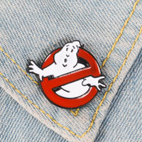 Ghostbusters Enamel Pin White Ghost Badge Brooch Bag Clothes Lapel pin Cartoon Fun Movie Jewelry Gift for fans Friends
