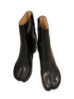 Tasarım tabi çizmeler bölünmüş toe tıknaz yüksek topuk zapatos mujer moda sonbahar kadın ayakkabı botas