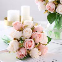 12 köpfe / lose Künstliche Rose Blumen Hochzeit bouquet Neujahr Rosa Royal Rose Seidenblume Dekoration Hochzeit Party Decor