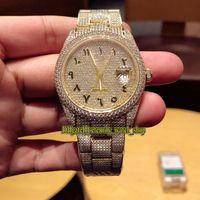 أكبر نسخة m126333 m126334 m126234 الهاتفي الماس ETA 2824 التلقائي 41MM الميكانيكية الرجال ووتش الذهب 904L حالة الفولاذ ساعات الماس مصمم