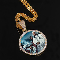 أجنحة الذهب بالطلب صور والأنواط قلادة قلادة مكعب الزركون مجوهرات رجالية الهيب هوب
