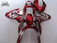 Personnaliser chinois carénages pour Kawasaki Ninja ZX9R 00 01 ZX9R 2000 2001 ZX 9R kits de carénage de moto rouge argent