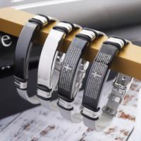 nouveaux européens et américains fabricants bracelet en acier de titane de mode bracelet personnalisé gel de croix amoureux directe Bracelet hommes de vente