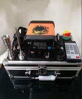 Электрический лак для ногтей Enail портативный e-nail dabber rig регулятор температуры коробка с титановой нагревательной катушкой для стеклянного барботера