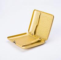 Neues luxuriöses Metall Frosted Zigarettenetui Shell Gehäuse-Aufbewahrungsbehälter der Qualitäts-exklusives Design Tragbarer Dekorieren Hot Kuchen DHL-freier