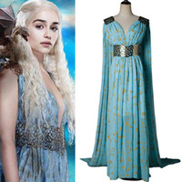 Game of Thrones Daenerys Targaryen Dany Cosplay Costume Long...