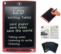 مصنع 8.5 بوصة LCD الكتابة اللوحي رسم لوحة السبورة الكتابة اليدوية وسادات هدية لمذكرة الاطفال بلا أوراق المفكرة أقراص مع القلم ورفع مستواها