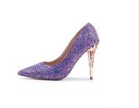 2020 Yeni Yaz Lüks Yüksek topuklu Pullarda Düğün Ayakkabı Parti Balo Kadın Ayakkabı Zarif Stilettos Kız Gelin Aksesuarları Ayakkabı