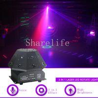 Sharelife 24 RGB Gobos láser + RGB Led Beam + Estroboscópico blanco Led Luz de movimiento DMX Bar Party Disco Show DJ Rotación Iluminación de escenario Q9