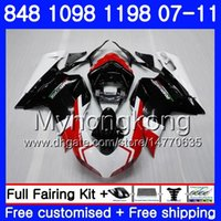 Body for DUCATI 848R 1098R 1198R 848 1098 1198 07 08 09 10 11 324HM.0 1098S 848S S R 1198S 2007 2008 2009 2010 2011 Fairing Red black white