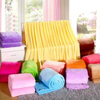 Weiche Microplush Flanell-Vlies-Decke Wirft Twin / Full / Queen / King-Size-Bett / Sofa / Air Abdeckung Taupe Hellbraun Camel Solid Color