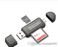 SZ Tous dans un lecteur de carte mémoire multifonctions Mini USB 2.0 OTG micro SD TF carte de lecteur de carte de carte pour ordinateur portable ordinateur noir blanc blanc