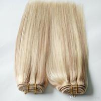 cabelo virgem malaio linha reta de piano cor extensões de cabelo 27 613 cabelo virgem loira Weave Pacotes 100g 1pcs humanos dupla trama