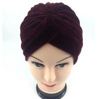 اللف فتاة 1 قطعة يدوية امرأة جودة عالية المخملية رباطات أنثى السفر الشارع التقاط صور العمامة مسلم hairbands