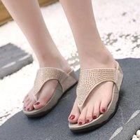 Pantofole HEE GRAND 2019 New Summer Fashion Bling Outdoor Donna Casual Med Wedges Infradito Pantofole Taglia 35-41 XWT1537