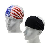 USA Magia Turbante OUtdoor fascia bandiera a strisce stelle Copricapo velo sportiva Copricapo Bandane ginnastica di yoga Parasudore LJJA4015
