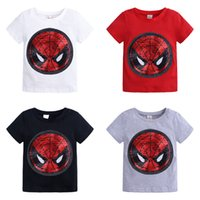 Cool Kids Boys clothing Hero Sequins Face transform T shirt ...