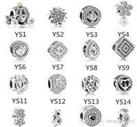 Perle en argent sterling S925 Convient au bracelet Pandora pour bijoux Make Cumpkin Crystal Dangle Beads Charms pour la chaîne européenne Snake Chain Fashion 2019