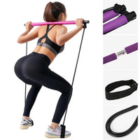 Portable Pilates exercice bâton Tonique Bar Fitness Accueil Yoga Body Gym Body Workout Résistance abdominale bandes corde Puller Kit