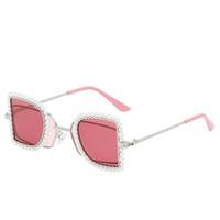 2020 الماس النظارات الشمسية للنساء الفراشة الأزياء كريستال بيرل أزياء المرأة نظارات شمسية Oculos دي سول
