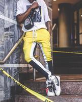 바느질 컬러 바 지퍼 다리 남성 조깅 캐주얼 하렘 스웨트 팬츠 SPORTA 바지 남성 FOG 운동복 체육관 바지 트랙 Joggingu 바지 NWE