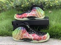 Hot autênticos 2020 Foam Posite Um Pequim Shoes Planeta Hoops Verde greve Preto Basquetebol Homens de fibra de carbono real GLOW NA Sneakers ESCURO