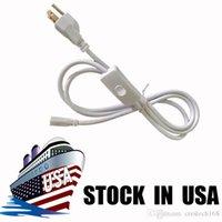 6ft kablo için entegre T8 T5 LED tüpler ışıkları bağlayıcı Güç kablosu ile anahtarı ABD Plug 2 pin fiş