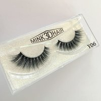 9 styles fake mink eyelashes messy 3D corrugated eyelashes S...