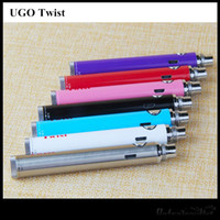 UGO Twist tension variable 650 900mAh Vape Pen 510 fil batterie Evod Passthrough Micro USB gratuite DHL