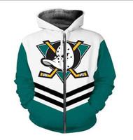 Neue Art und Weise Unisex Sweatshirt Pullover Männer Frauen Mighty Ducks Sweatshirts Harajuku Maxi-Reißverschluss-Jacken-Kleidung
