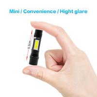 BRELONG 미니 손전등 COB 측면 조명 LED 야외 줌 손전등 흰색 빛 휴대용 일상 업무 1