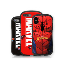 Luxus Marvel Avengers Spiderman-Telefonkasten für iphone X XR XS MAX 7 8 Plus 6 6S Plus-Cartoon Heavy Duty Cover-Rückseite