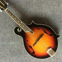 Mandolin es una guitarra eléctrica de ocho cuerdas, cuerpo de atardecer, instrumento mandolina hecho a mano.