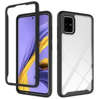 Telaio in acrilico trasparente di Bumper Case for Samsung Galaxy S20 più A51 A71 A21 lg lg K51 stlyo 6 antiurto duro della copertura posteriore